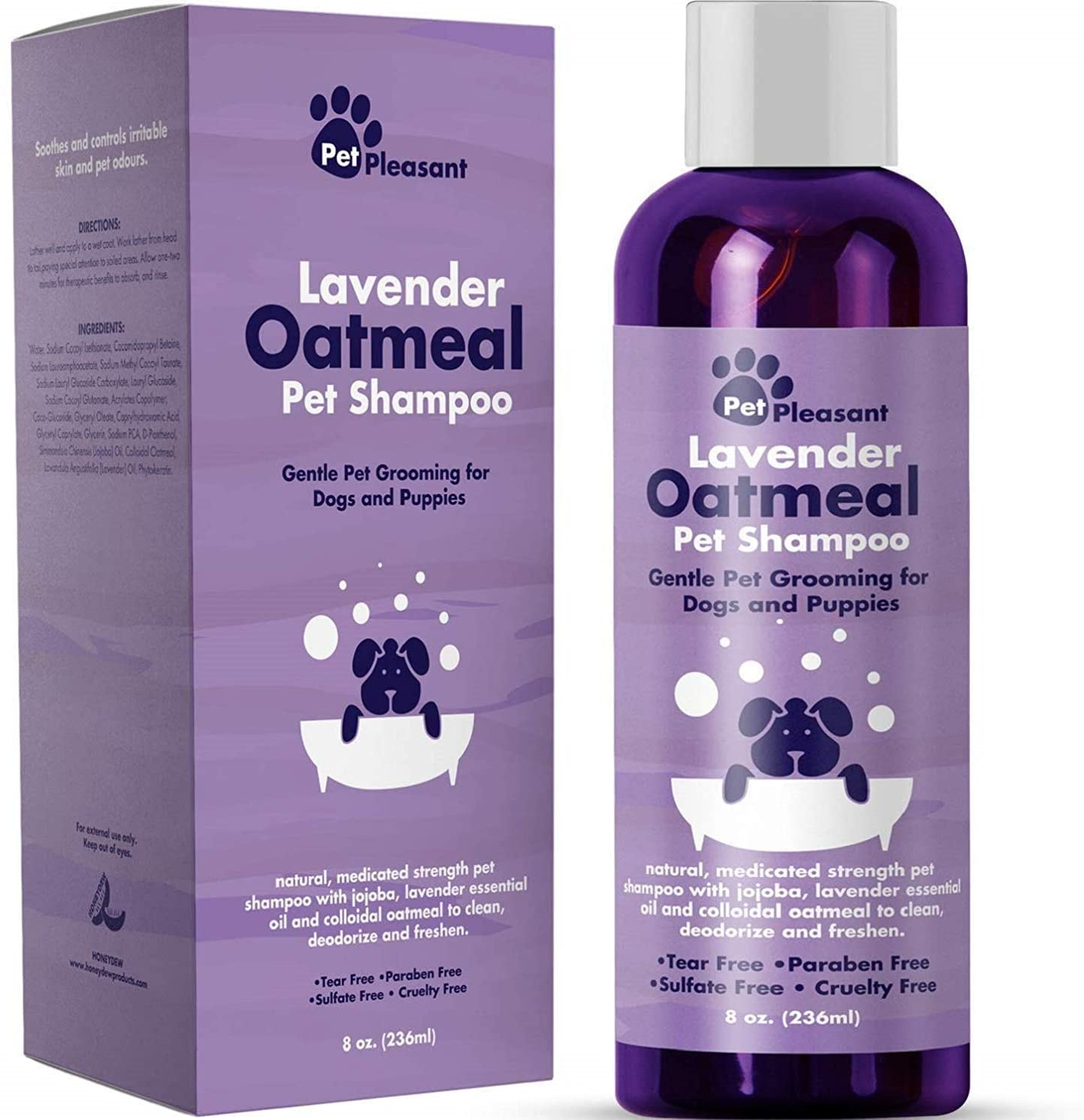 Cleansing Dog Shampoo for Smelly Dogs - Refreshing Colloidal Oatmeal Dog Shampoo for Dry Skin.