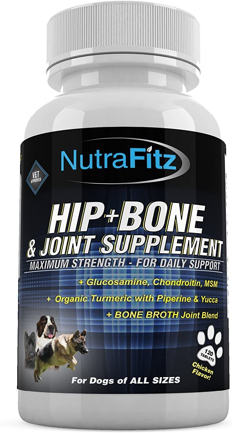 NutraFitz Hip Bone and Joint Supplement for Dogs