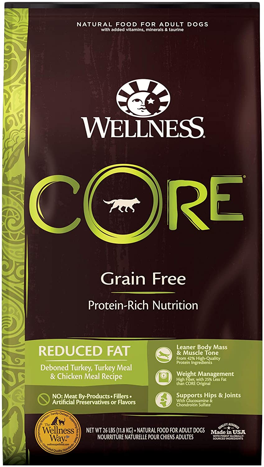 Wellness Core Natural Reduced Fat Grain-Free Dry Dog Food