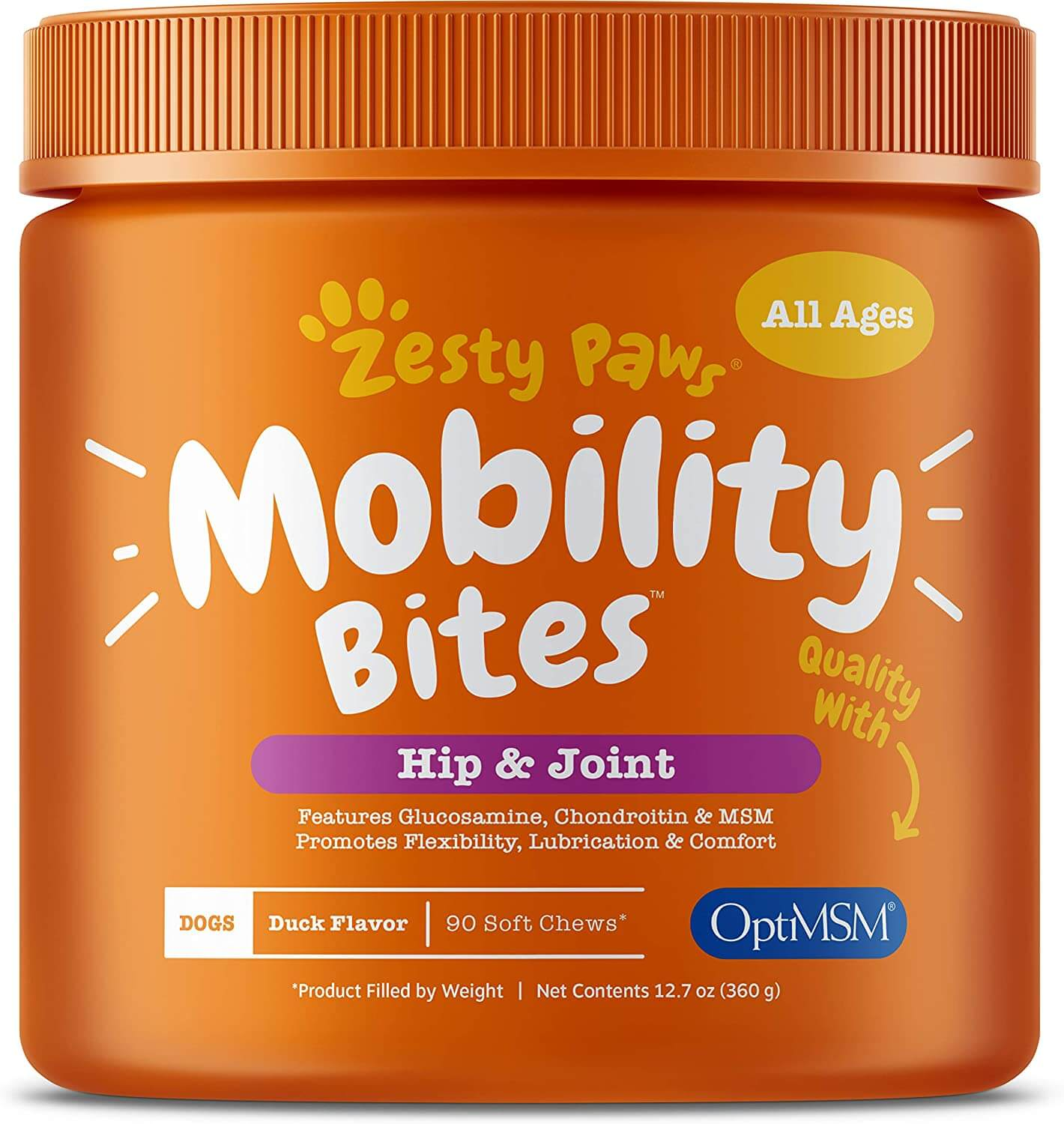 Zesty Paws Glucosamine for Dogs Joint and Hip  Health
